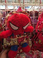 Рюкзак мягкий с игрушкой спайдермен, Сьемная игрушка