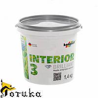 Краска акриловая интерьерная KOMPOZIT INTERIOR3 1,4 кг