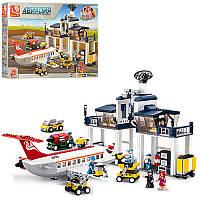 Конструктор SLUBAN M38-B0373 авиация, аэропорт, самолет, фигурки, в кор-ке,62-42,5-9см