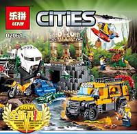 Конструктор Lepin 02061 Cities База исследователей джунглей (аналог Lego City 60161)