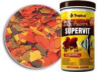 Tropical Supervit Basic хлопья 8 видов основной корм для всех видов рыб с содержанием ВЕТА GLUC, 21 л/4 кг.