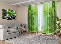 "Фото Шторы на люверсах ""Зеленый бамбук"""