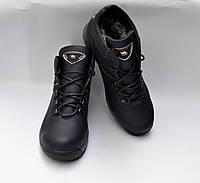 Подростковые зимние кожаные ботинки, BOTUS, синие