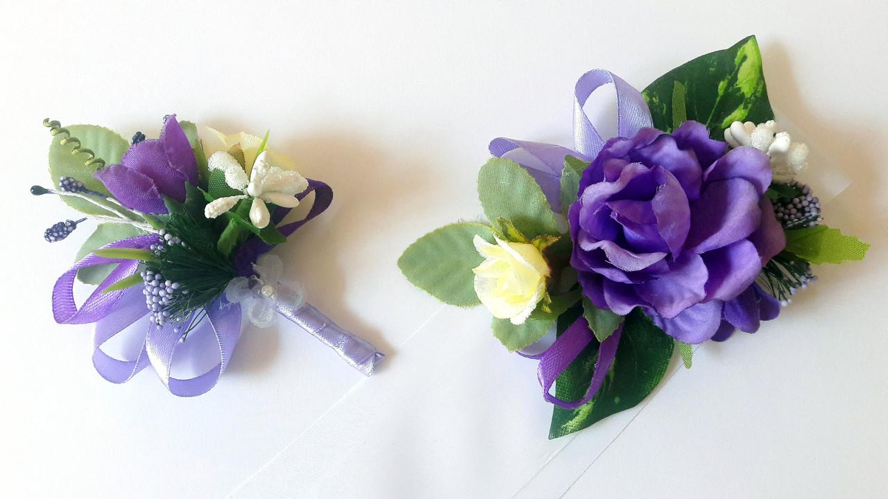 Свадебные бутоньерки, браслеты (ручная работа)