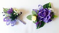 Свадебные бутоньерки, браслеты (ручная работа), фото 1