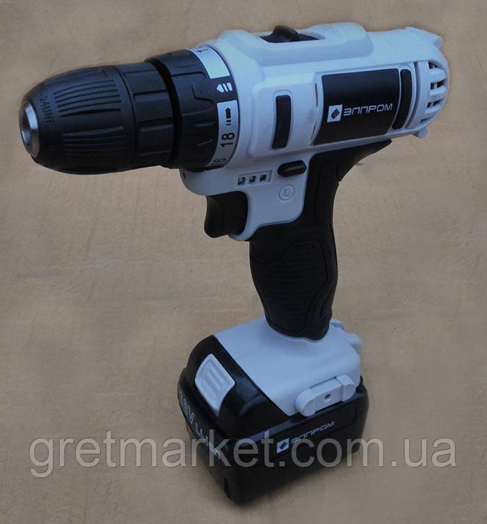 Шуруповерт аккумуляторный Элпром ЭДА-18-2 Li