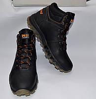 Мужские зимние кожаные ботинки, ANOANTE, черные