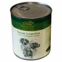 Hubertus Gold КРОЛИК с картофелем и маслом зародышей пшеницы, консервы для собак 800 гр.