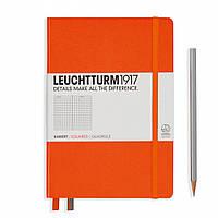 Блокнот Leuchtturm1917 Средний (A5) Оранжевый В клетку (14,5х21 см) (342935), фото 1