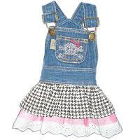 MonkeyDaze ЧЕРЕП (Denim Skull dress) котоновое платье со стразами, XS