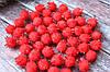 Помпони з люрексом, 1,5 см, 1000 шт/уп, червоного кольору оптом