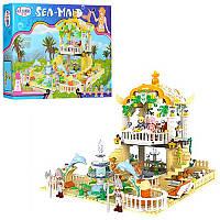 Детский конструктор 1112 замок принцессы, фигурки, 700 дет, в кор-ке, 48,5-38,5-7см