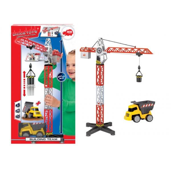 Функциональный строительный кран Dickie Toys