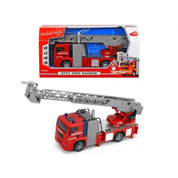 Пожарная машинка Dickie  Toys Город со световыми и звуковыми эффектами