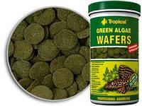 Tropical Green Algae Wafers растительный корм тонущие вафельки для кольчужных сомов, 5 л/2,25 кг.