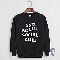 Свитшот чёрный Anti Social Social Club logo   Кофта топ