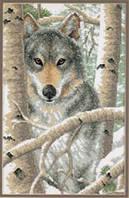 03228 Набор для вышивания крестом DIMENSIONS Зимний волк