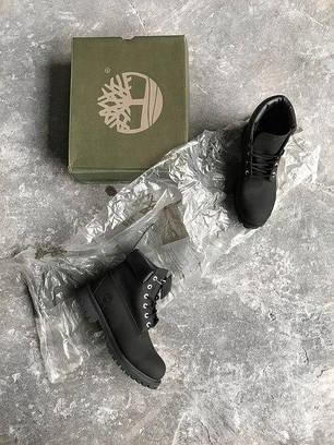Мужские ботинки Timberland Black топ реплика, фото 2