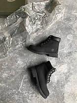 Мужские ботинки Timberland Black топ реплика, фото 3