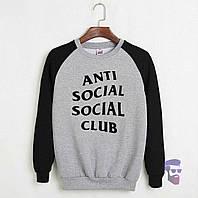Комбо свитшот Anti Social Social Club logo | Кофта стильная