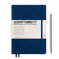 Блокнот Leuchtturm1917 Средний (A5) Тёмно-синий с Чистыми листами (14,5х21 см) (342924), фото 1