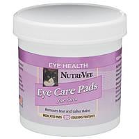 Nutri-Vet Влажные салфетки очистка пятен для котов, 90 шт.