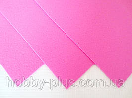 Фетр корейский жесткий 1.2 мм, 20x30 см, РОЗОВЫЙ