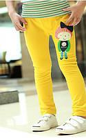 Детские брюки для девочки от 3 до 7 лет (желтый)