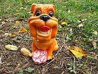 Собачка с беконом 21 см. декор, статуэтка, фигурка