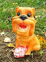 Собачка с беконом для декора 21 см. Полистоун