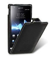 Чехол-флип Melkco для Sony Xperia U ST25i, черный