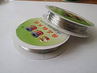 Проволока серебро 0,5 мм (20метров)
