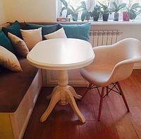 """Дубовый овальный обеденный стол """"Марк"""" в белом цвете"""
