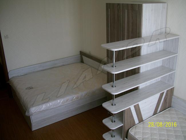 Спальня с двумя кроватями(подъмные механизмы)