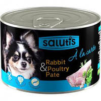 Salutis (Салютис) A la Carte Rabbit & Game, - мясной паштет для собак с кроликом, 190 г.