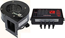 Блок управления Polster C-11 + вентилятор NWS-75 для твердотопливных котлов