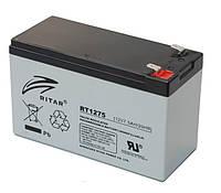 Батарея для ИБП 12В 7.5Ач AGM Ritar RT1275 / 12V 7.5Ah / 151х65х100 мм
