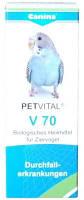 Canina PETVITAL V70 при поносах, нарушениях кровообращения у птиц, 10 гр (дражже)
