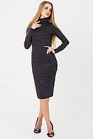 Нежное платье-гольф из ангоры с люрексом, черный