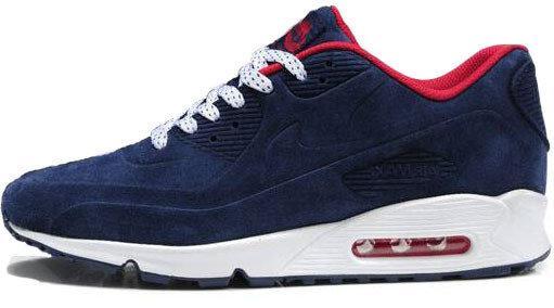 Зимние мужские кроссовки Nike Air Max 90 VT Blue Winter Edition, найк, айр макс. ТОП Реплика ААА класса.