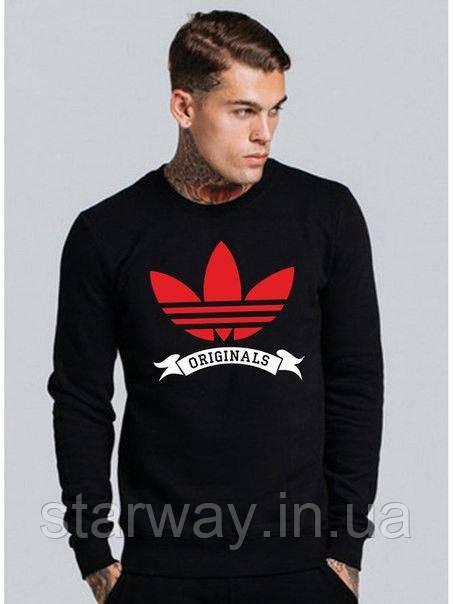 Свитшот чёрный Adidas Originals logo   Кофта стильная