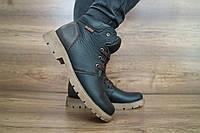 Подростковые зимние ботинки Braxton 10022 черные