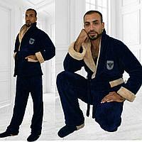 Мужской теплый домашний костюм № 055 рош.