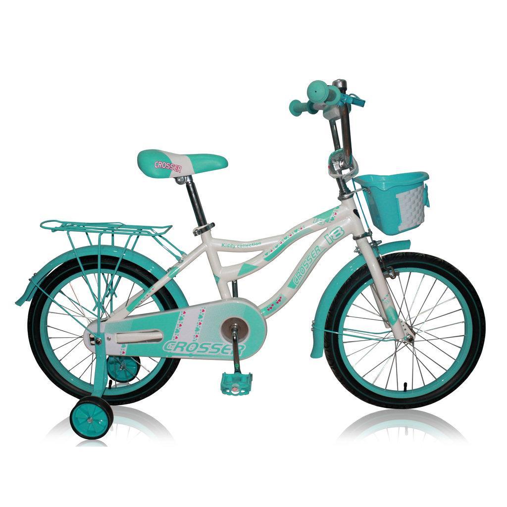 """Детский велосипед CROSSER KIDDY 18""""  Белый/голубой"""