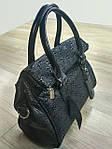 Кожаная сумка leather  black 25*30*10 см, фото 2