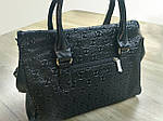 Кожаная сумка leather  black 25*30*10 см, фото 3