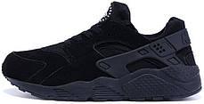 Зимние мужские кроссовки Nike Air Huarache All Black Winter Edition, найк, айр хуараче, фото 2