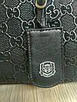 Кожаная сумка leather  black 25*30*10 см, фото 5