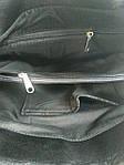 Кожаная сумка leather  black 25*30*10 см, фото 7
