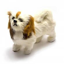 Статуэтка декоративная Собака из меха